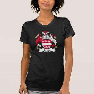 Escudo de la familia de Croke Camisetas