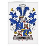 Escudo de la familia de Cromberg Felicitacion