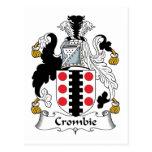 Escudo de la familia de Crombie Postal