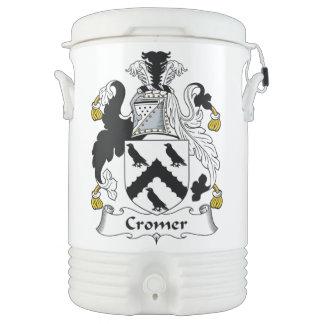Escudo de la familia de Cromer Vaso Enfriador Igloo