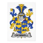 Escudo de la familia de Cromwell Invitación Personalizada