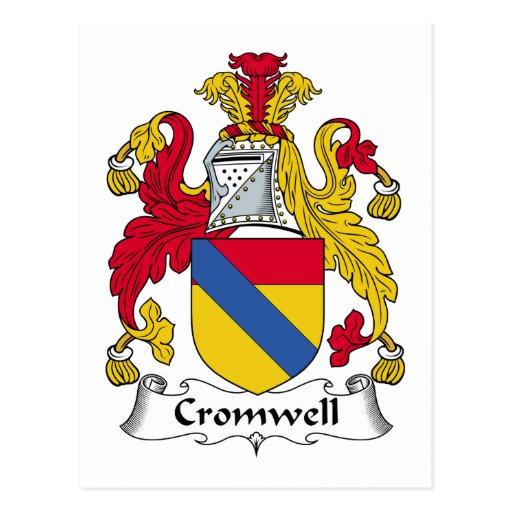 Escudo de la familia de Cromwell Tarjetas Postales