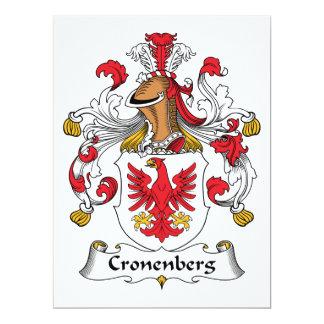 Escudo de la familia de Cronenberg Comunicados Personalizados