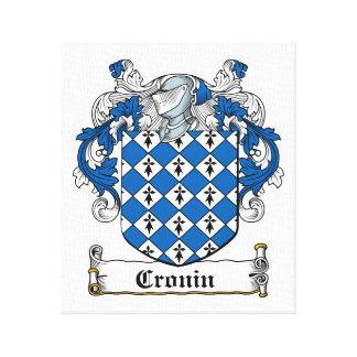Escudo de la familia de Cronin Impresion De Lienzo