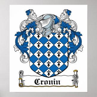 Escudo de la familia de Cronin Posters