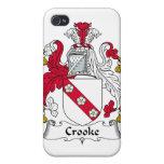 Escudo de la familia de Crooke iPhone 4 Carcasas