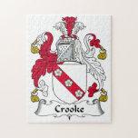 Escudo de la familia de Crooke Rompecabezas