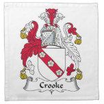 Escudo de la familia de Crooke Servilleta De Papel