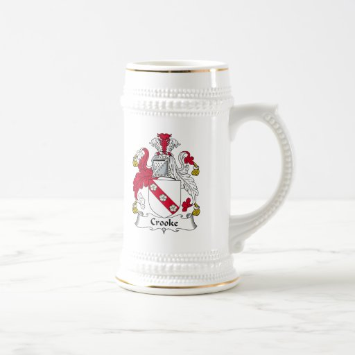 Escudo de la familia de Crooke Tazas De Café