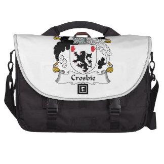 Escudo de la familia de Crosbie Bolsas De Portatil