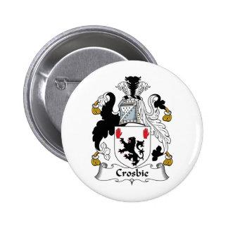 Escudo de la familia de Crosbie Pin Redondo 5 Cm