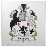 Escudo de la familia de Crosbie Servilletas De Papel