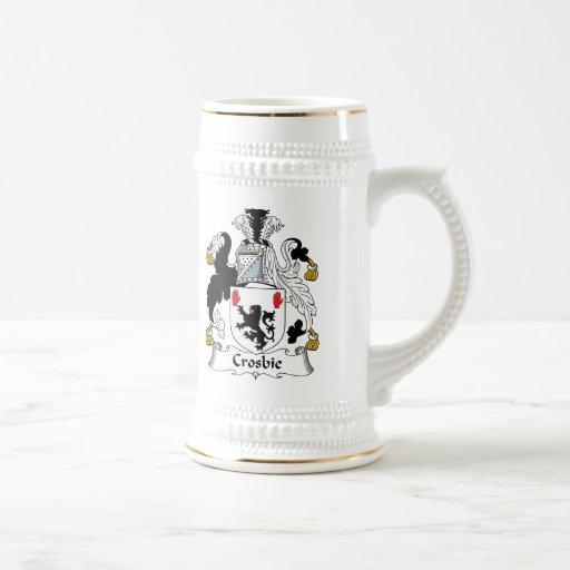 Escudo de la familia de Crosbie Tazas De Café