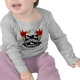 Escudo de la familia de Crosby Camisetas