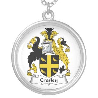 Escudo de la familia de Crosley Colgante Redondo