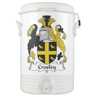 Escudo de la familia de Crosley Enfriador De Bebida Igloo
