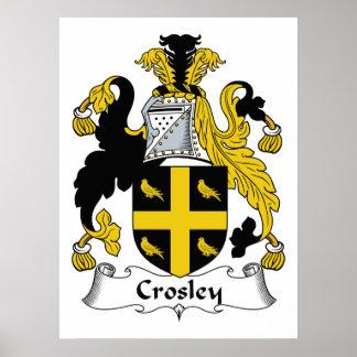 Escudo de la familia de Crosley Póster