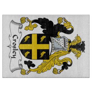 Escudo de la familia de Crosley Tabla De Cortar