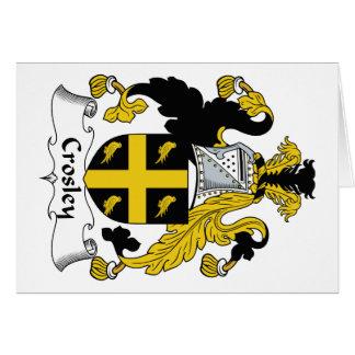 Escudo de la familia de Crosley Tarjeta De Felicitación