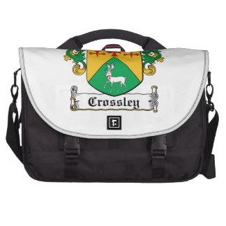 Escudo de la familia de Crossley Bolsas Para Ordenador