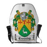Escudo de la familia de Crossley Bolsas De Mensajería