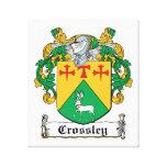 Escudo de la familia de Crossley Impresión De Lienzo