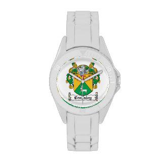 Escudo de la familia de Crossley Relojes