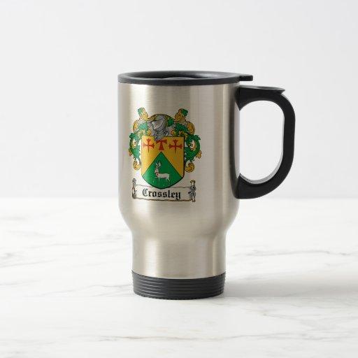 Escudo de la familia de Crossley Taza De Café