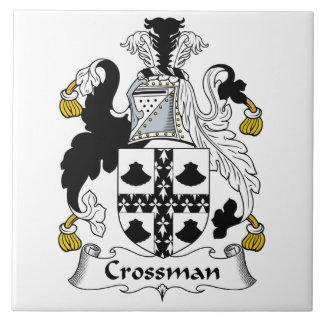 Escudo de la familia de Crossman Azulejo Cuadrado Grande