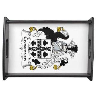 Escudo de la familia de Crossman Bandejas