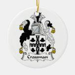 Escudo de la familia de Crossman Ornamento Para Reyes Magos