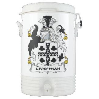 Escudo de la familia de Crossman Enfriador De Bebida Igloo