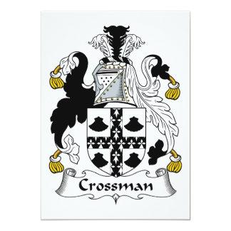 """Escudo de la familia de Crossman Invitación 5"""" X 7"""""""