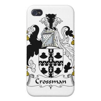 Escudo de la familia de Crossman iPhone 4 Funda