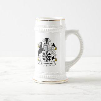 Escudo de la familia de Crossman Jarra De Cerveza
