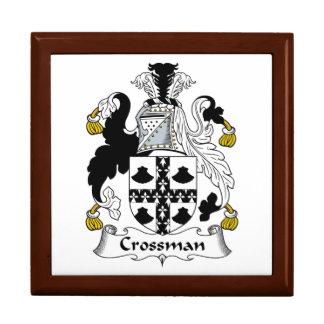 Escudo de la familia de Crossman Joyero Cuadrado Grande