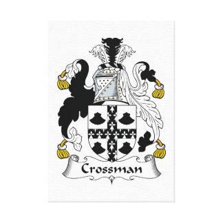 Escudo de la familia de Crossman Impresion De Lienzo