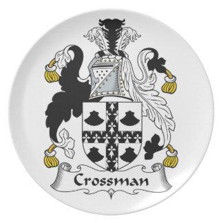 Escudo de la familia de Crossman Platos Para Fiestas