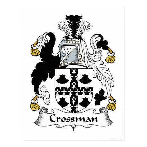 Escudo de la familia de Crossman Postales