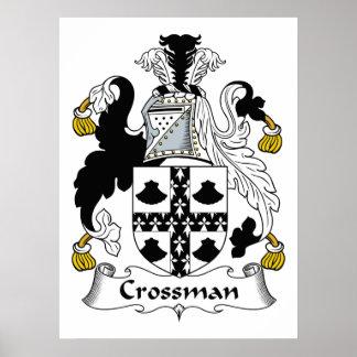 Escudo de la familia de Crossman Póster