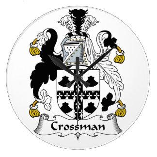 Escudo de la familia de Crossman Reloj Redondo Grande