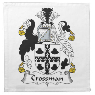 Escudo de la familia de Crossman Servilleta