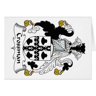 Escudo de la familia de Crossman Tarjeta De Felicitación