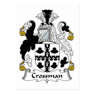 Escudo de la familia de Crossman Tarjeta Postal