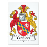 Escudo de la familia de Crothers Invitación 12,7 X 17,8 Cm