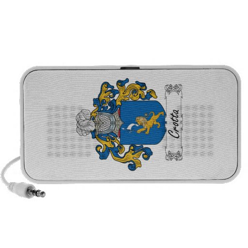 Escudo de la familia de Crotta iPod Altavoces
