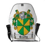Escudo de la familia de Crotty Bolsa De Mensajeria
