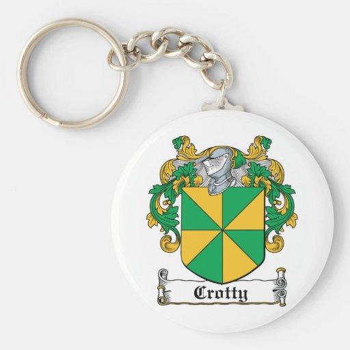 Escudo de la familia de Crotty Llaveros Personalizados