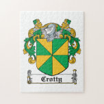 Escudo de la familia de Crotty Rompecabeza Con Fotos