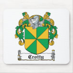 Escudo de la familia de Crotty Tapete De Ratones